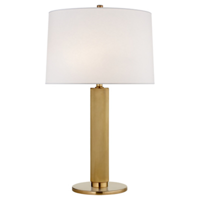 Barrett Medium Knurled Table Lamp in Natural Brass