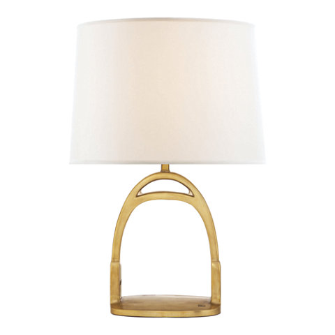 Westbury Table Lamp In Natural Brass Lighting Products