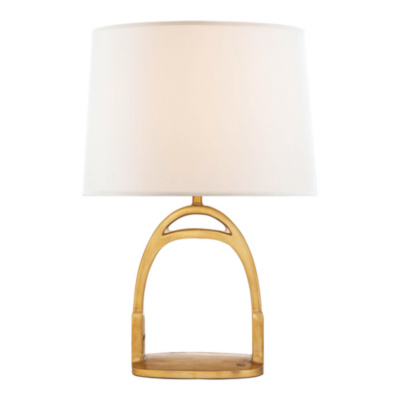 Westbury Table Lamp in Natural Brass