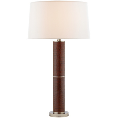 Upper Fifth Table Lamp in Brown Leather