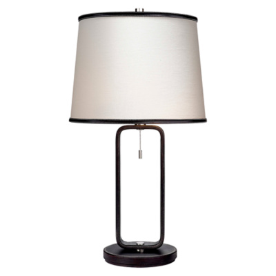 Devin Table Lamp in Chocolate Leather