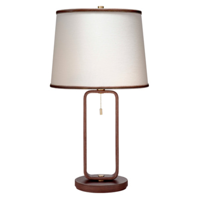 Devin Table Lamp in Saddle Leather