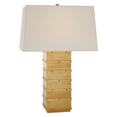 Bleeker Large Table Lamp in Natural Brass