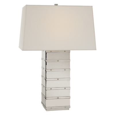 Bleeker Large Table Lamp in Polished Nickel