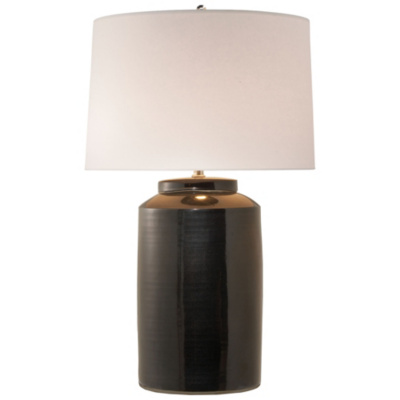 Carter Large Table Lamp in Black Porcelain