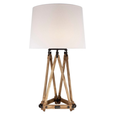 Quincy Table Lamp in Vintage Oak