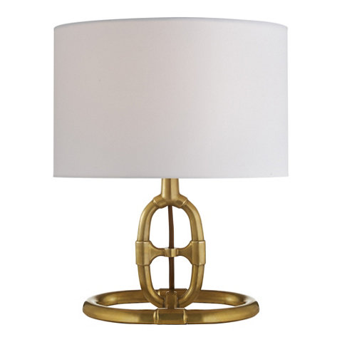 Jasper Accent Lamp In Antique Brass Table Lamps