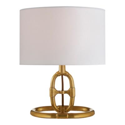 Jasper Accent Lamp in Antique Brass