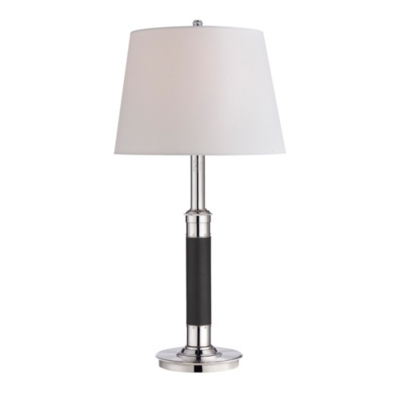Avery Table Lamp in Chocolate Leather