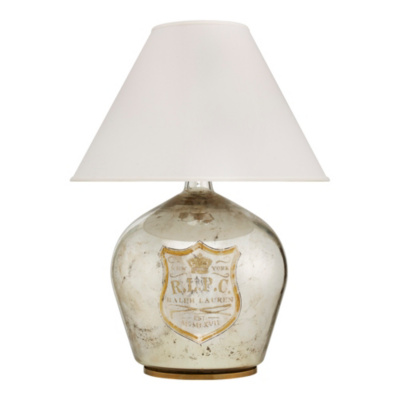 Claudette Medium Table Lamp in Mercury Glass