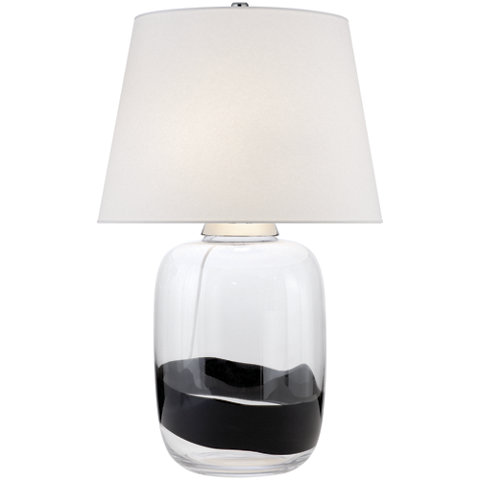 Adela Table Lamp With Black Stripe