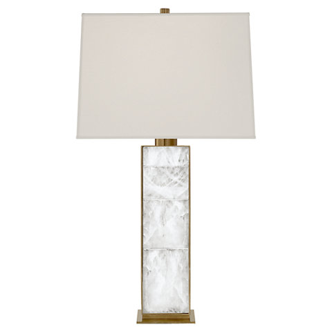 Ellis Table Lamp In Natural Brass And Quartz   Table Lamps   Lighting    Products   Ralph Lauren Home   RalphLaurenHome.com