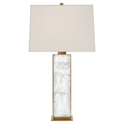 Ellis Table Lamp in Natural Brass and Quartz