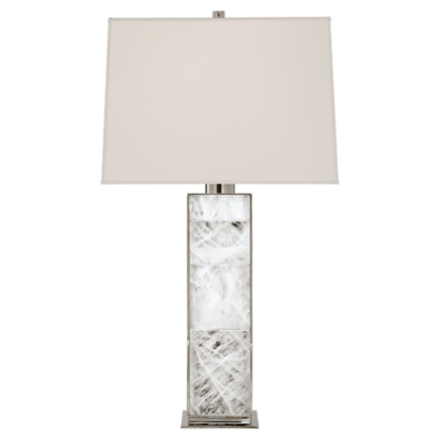 Ellis Table Lamp in Polished Nickel and Quartz