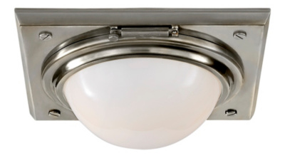 Wainscott Small Flush Mount - Antique Nickel