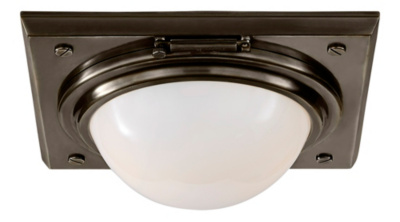Wainscott Small Flush Mount - Bronze