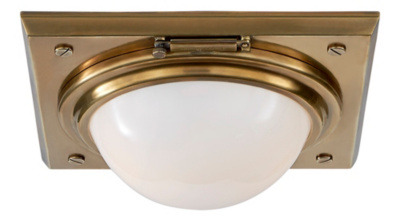 Wainscott Small Flush Mount - Natural Brass