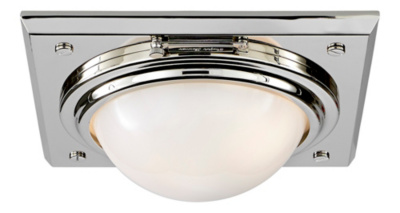 Wainscott Small Flush Mount - Polished Nickel