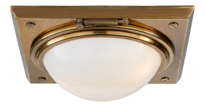 Wainscott Large Flush Mount - Natural Brass