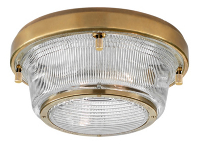 Grant Medium Flush Mount - Natural Brass