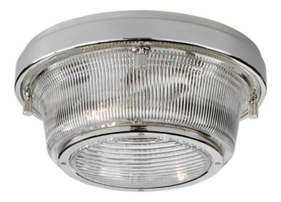 Grant Medium Flush Mount - Polished Nickel
