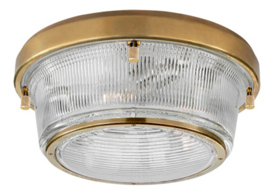 Grant Large Flush Mount - Natural Brass