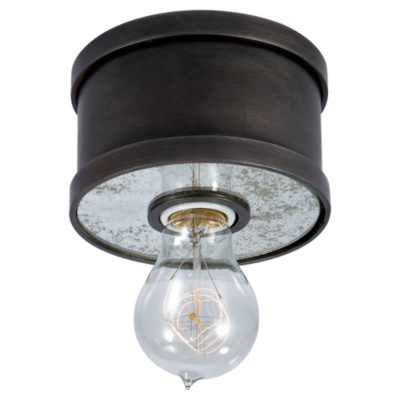 Roark Small Flush Mount in Aged Iron