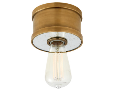 Roark Small Flush Mount in Natural Brass