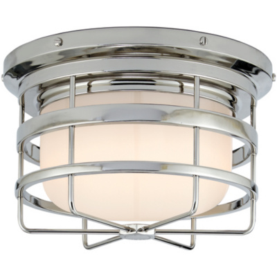 Crosby Large Short Flush Mount in Polished Nickel