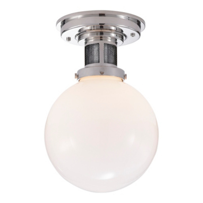 McCarren Small Flush Mount in Polished Nickel