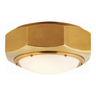 Niles Flush Mount in Brass