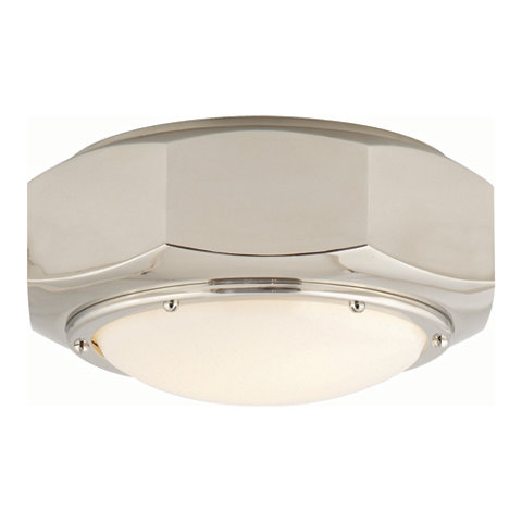 Niles Flush Mount In Polished Nickel Ceiling Fixtures Lighting Products