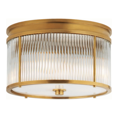 Allen Flush Mount in Natural Brass