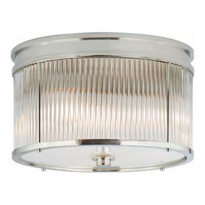 Allen Flush Mount in Polished Nickel