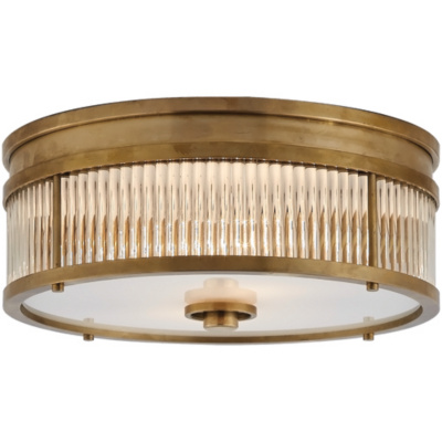 Allen Round Low Profile Flush Mount in Natural Brass