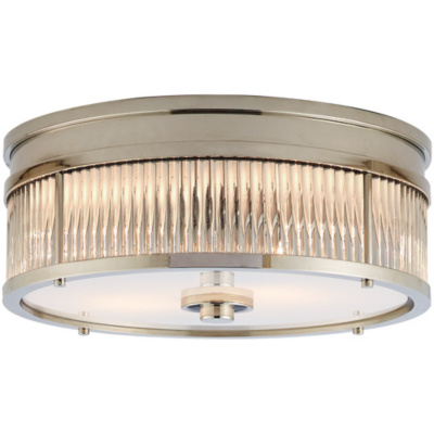 Allen Round Low Profile Flush Mount in Polished Nickel
