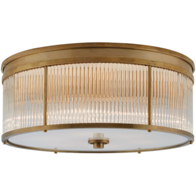Allen Large Flush Mount in Natural Brass