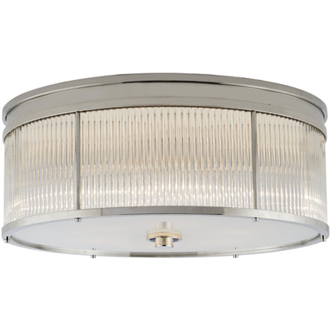Allen Large Flush Mount In Polished Nickel Ceiling Fixtures Lighting Pr