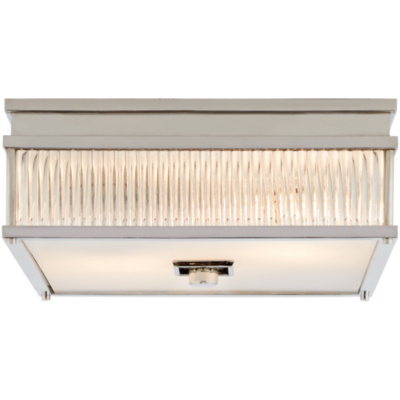 Allen Square Flush Mount in Polished Nickel