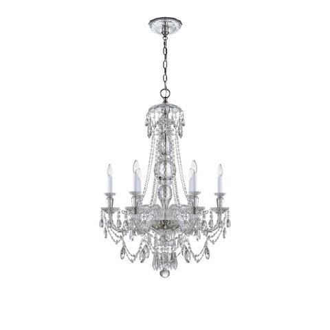 Daniela medium one tier chandelier in crystal ceiling fixtures lighting products ralph lauren home ralphlaurenhome com