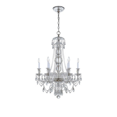 Daniela Medium One-Tier Chandelier in Crystal
