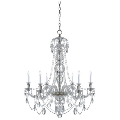 Daniela Wide Chandelier in Crystal