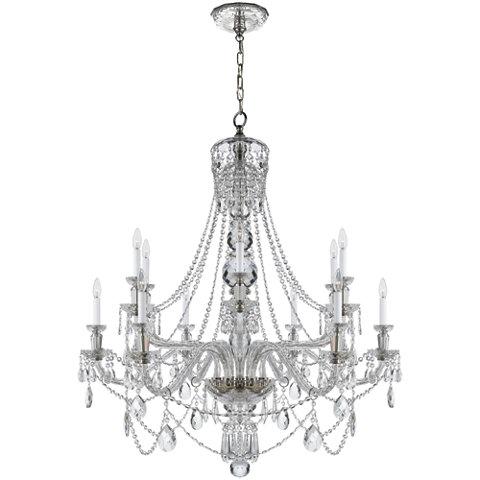 Daniela wide chandelier in crystal ceiling fixtures lighting products ralph lauren home ralphlaurenhome com