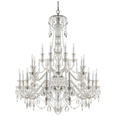 Daniela Twenty-Four-Light Chandelier in Crystal