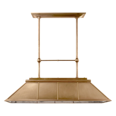 Rivington Large Billiard in Natural Brass with Antique Ribbed Mirror