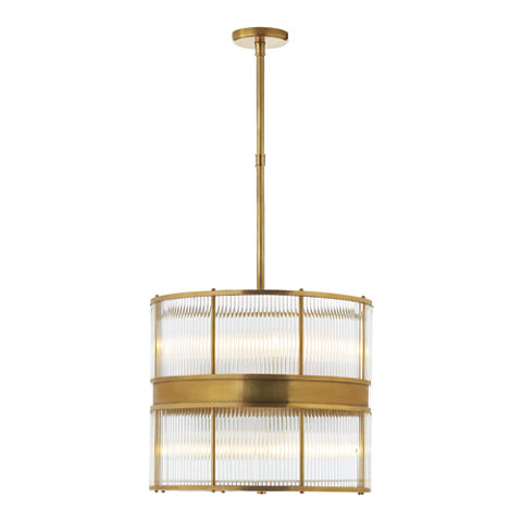 Allen Large Pendant In Natural Brass Ceiling Fixtures Lighting Products