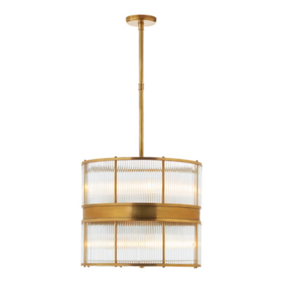 Allen Large Pendant in Natural Brass