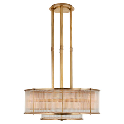 Allen Large Tiered Chandelier in Natural Brass
