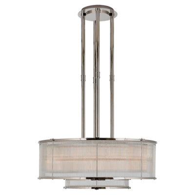 Allen Large Tiered Chandelier in Polished Nickel