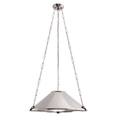 Baxter Medium Hanging Shade in Polished Nickel